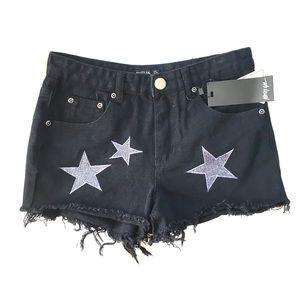 Nasty Gal Denim Star Shorts